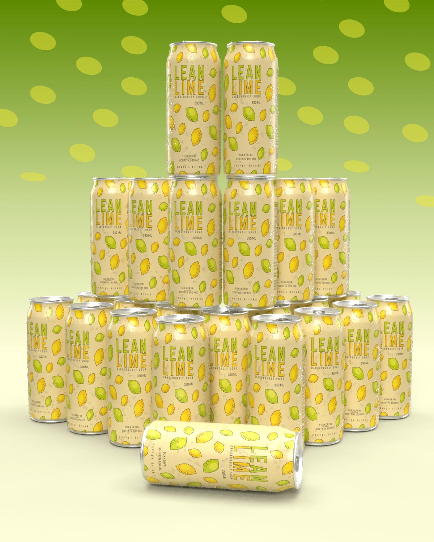 Lean Lime Energy Drink 24x330ml - BESTSELGER!